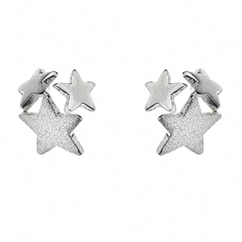 Silver Multi Star Earrings